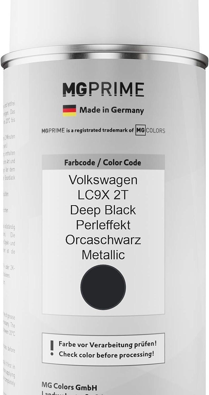 Mg Prime Autolack Sprühdosen Set Für Volkswagen Vw Lc9x 2t Deep Black Perleffekt Orcaschwarz Metallic Basislack Klarlack Spraydose 400ml Auto