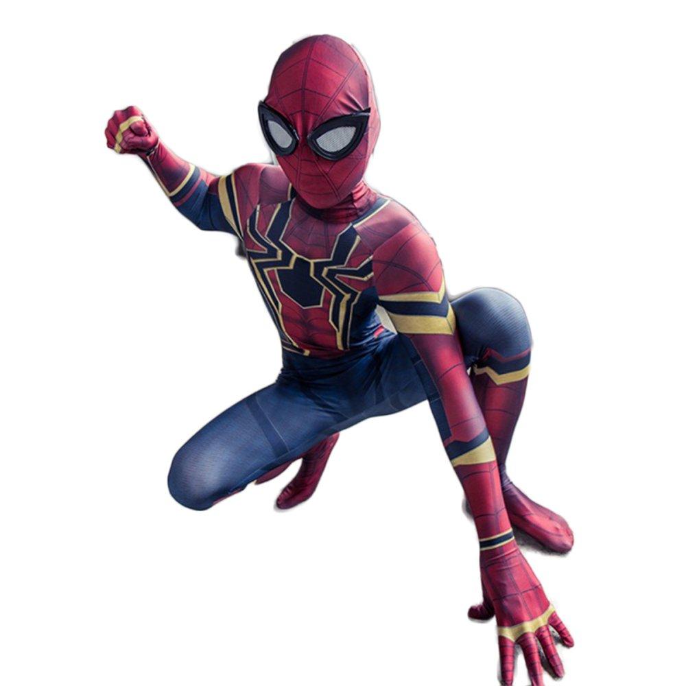 KYOKIM Vengadores 3 Medias De Onesies De Spiderman, Traje De Cosplay para Niños,Red-L/130