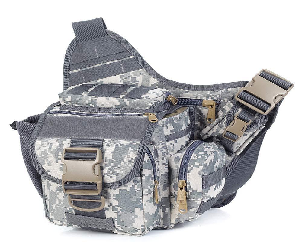 c07b6f40e7 QWKZH Zaini da Trekking Borsa Sportiva Esterna Militare Casuale Casuale  Casuale delle Tasche di Sport del Sacchetto del Camuffamento della Borsa a  Tracolla ...