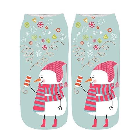 ?HWTOP Knöchelsocken Weihnachten Sneaker Low Cut Söckchen Unisex Sportsocken Baumwoll Sneaker Ballerina Socken Kurzsocken Lus
