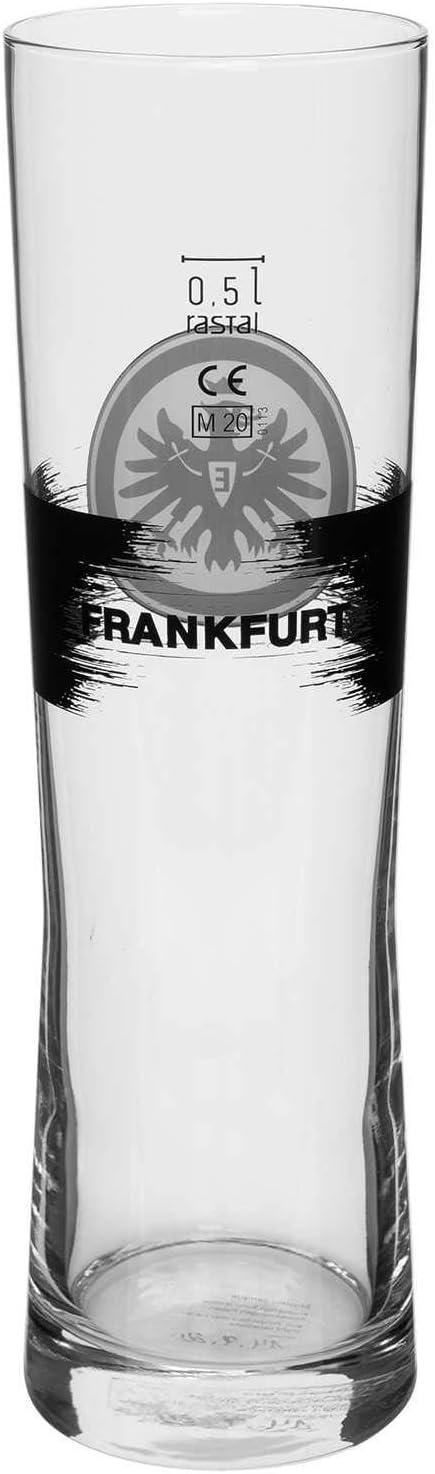 Glas Logo Plus Lesezeichen I Love Frankfurt Bierglas SGE Eintracht Frankfurt Weizenbierglas