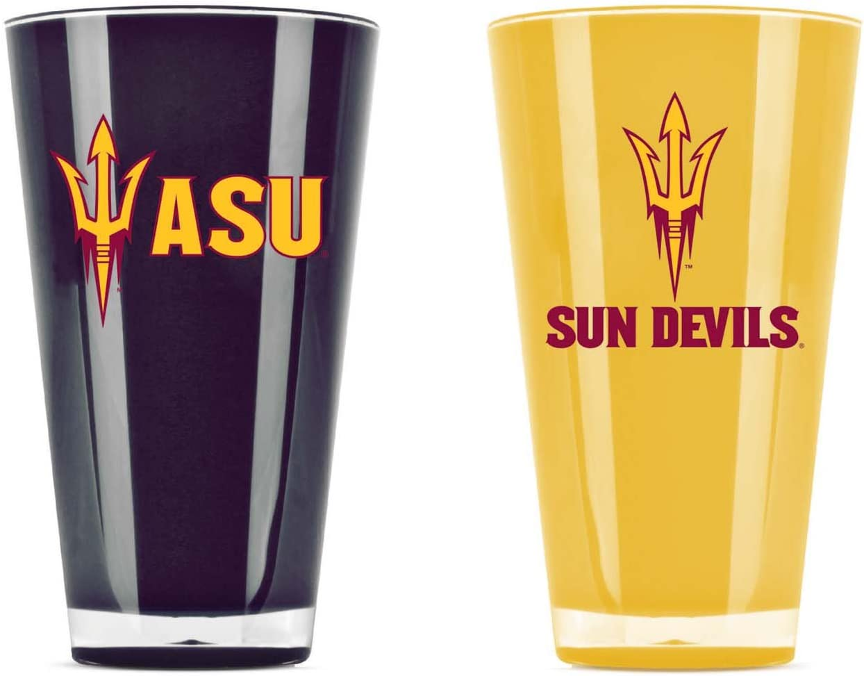NCAA Arizona State Sun Devils 20oz Insulated Acrylic Tumbler Set of 2