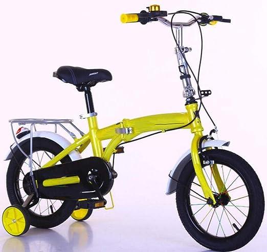 JBHURF Bicicleta Plegable para niños de 2-6 años de Edad, niños y ...