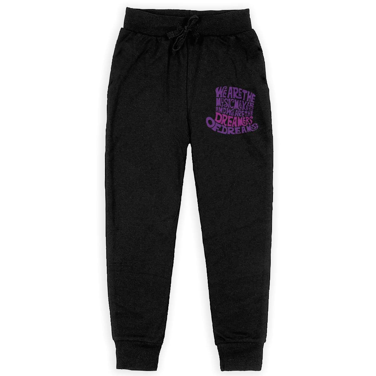 Kim Mittelstaedt Willy Wonka Hat Boys Big Active Basic Casual Pants Sweatpants for Boys Black