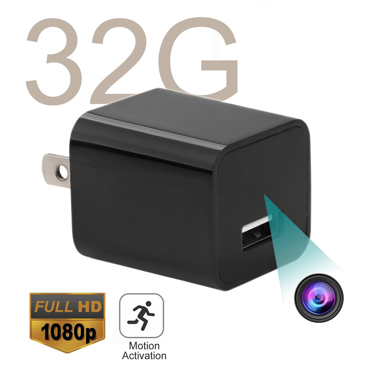 USB Hidden Spy Camera - ABOUR 32GB 1080P HD Motion Activated USB Mini Spy Cameras Personal Security Video Recorder