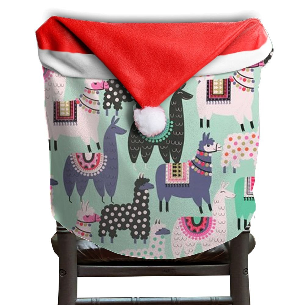 Llama Animal Christmas Chair Covers Cool Not Fade Chair Covers For Christmas For Men And Women Chair Back Covers Holiday Festive