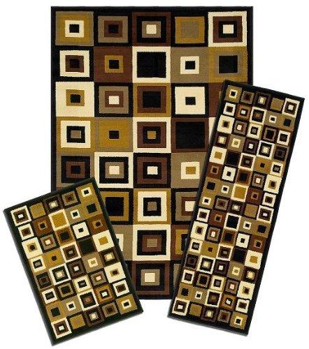 gs Capri 3-Piece Rug Set, Southwest Tiles ()