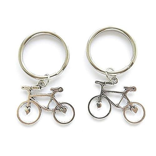 Amazon.com: Bicicleta Key cadena, Small bicicleta Keychain ...