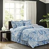 7 Piece Comforter Set R2Zen Carrera Blue 7-Piece Comforter Set, Queen