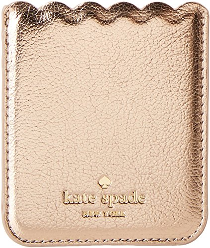 - Kate Spade New York Metallic Scallop Adhesive Phone Pocket, Soft Rose Gold, One Size