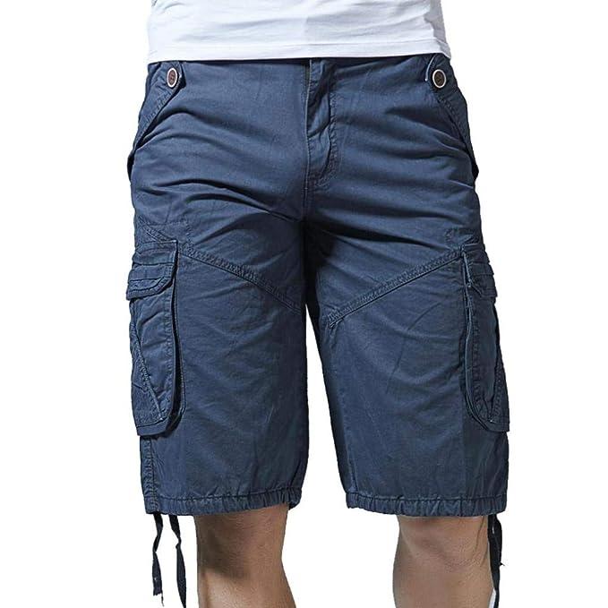 ♚Pantalón Corto de pantalón para Hombre, Pantalones Cortos Ocasionales Casuales de la Playa del Trabajo de la Playa del Bolsillo Absolute: Amazon.es: Ropa ...