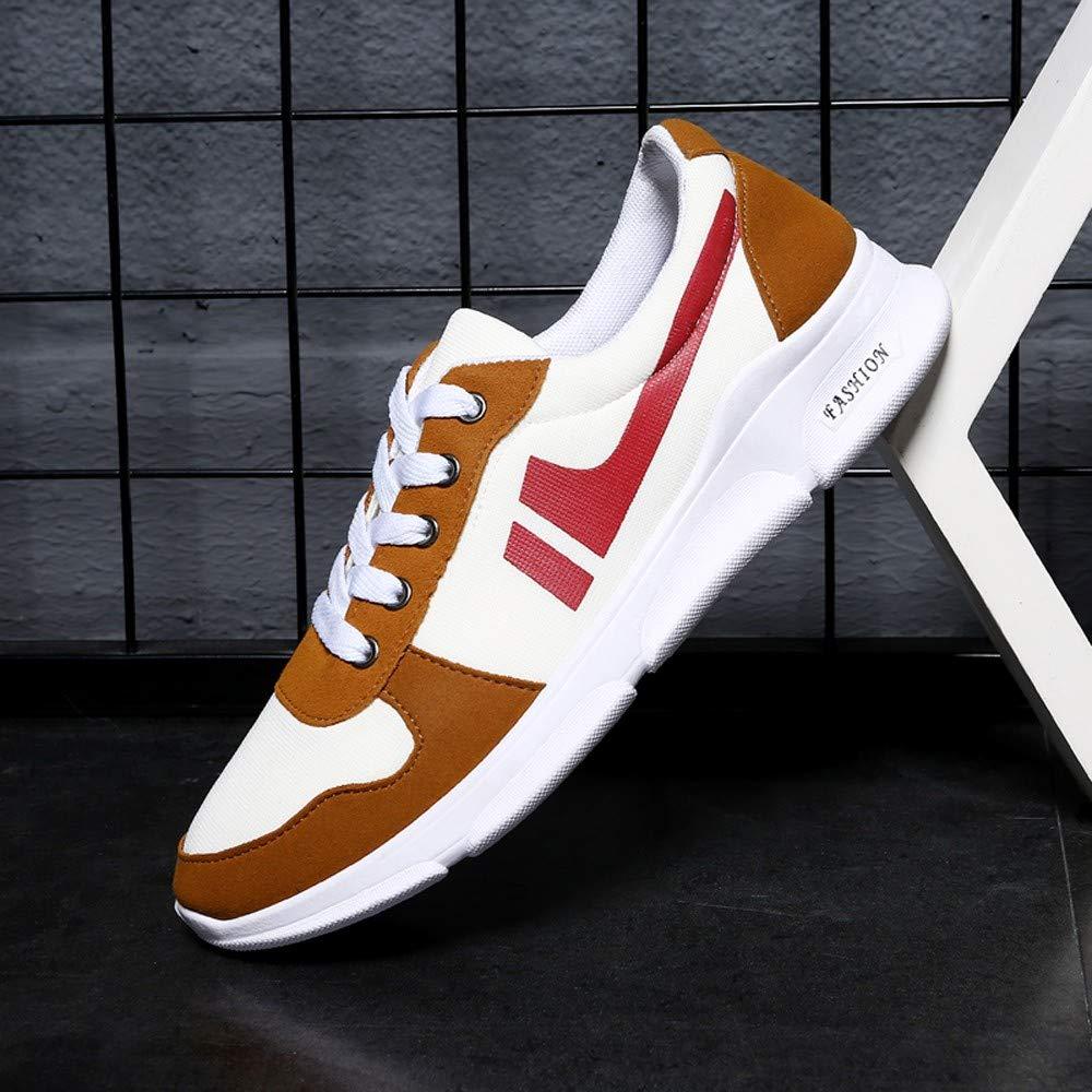 JiaMeng Zapatillas de Running Deporte y Aire Libre Hombres Zapatos Entrenamiento de Malla con Cordones Redondos con Cordones Zapatillas para Correr Calzado ...