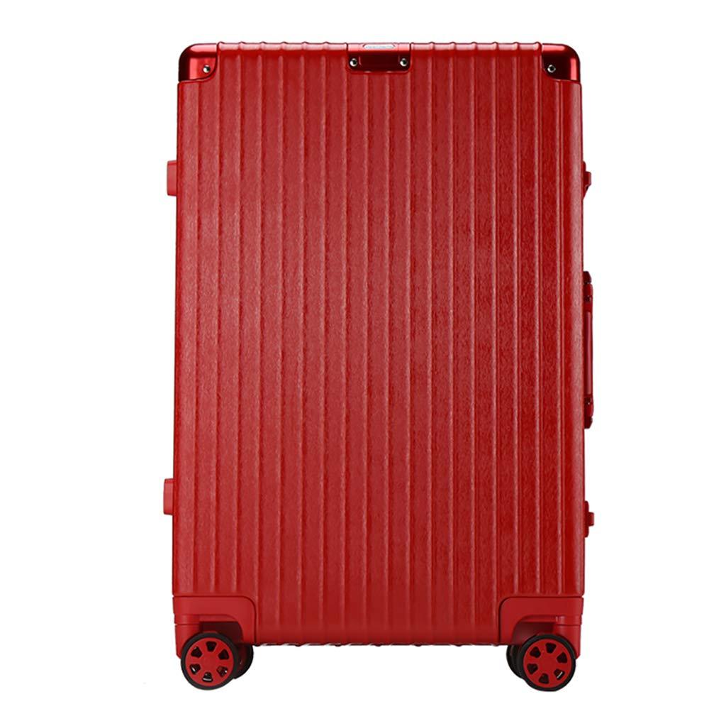 ビジネス持ち込み手荷物スモールスーツケース| 57 cm、4ホイール、TSAロック付きABS軽量ハードシェル、トラベルバッグ(シルバー、レッド、ブラック、ホワイト) 40.5x24x57cm Red B07PSLX591