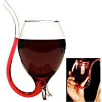300ml Creative Vampire Filter Red Wine Glass, Clear