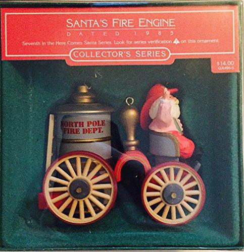 Santa's Fire Engine, 1985, Here Comes Santa Series #7, Hallmark Keepsake Ornament (QX496-5)