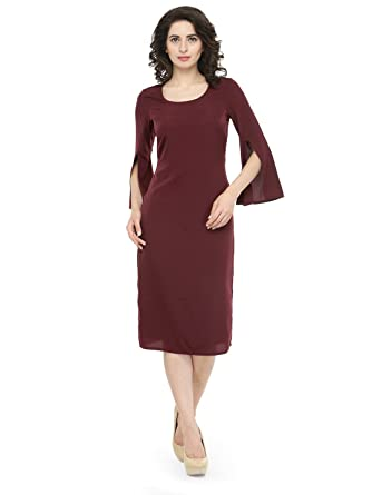882ff1b52e0b Magnetic Designs Women s Bodycon Midi Dress Maroon