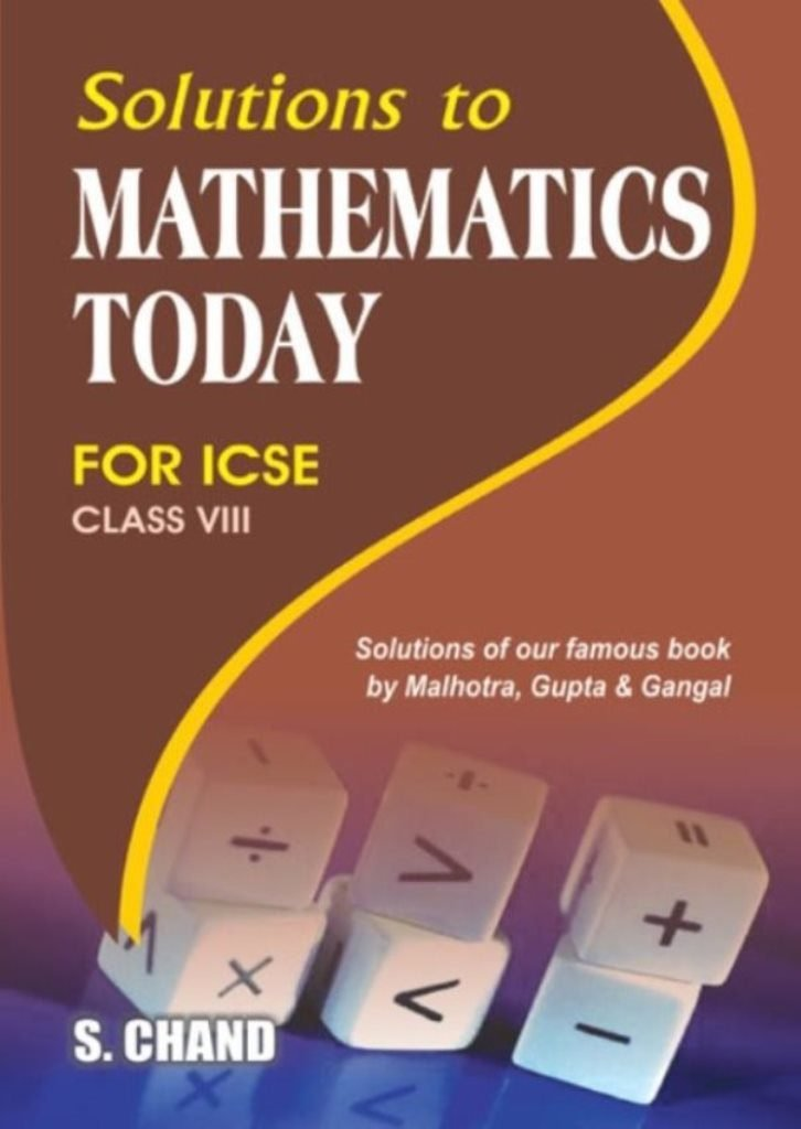 solution to mathematics today for class 8 icse old edition amazon