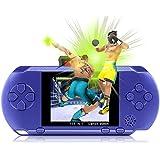 "Consola de Juegos de Mano, XinXu Consola 2.7 ""LCD 16 Bit Juego de Jugador Clásico Games Consoles Videojuego Recargable Portátil 156 Juegos en 1 (Azul Oscuro)"