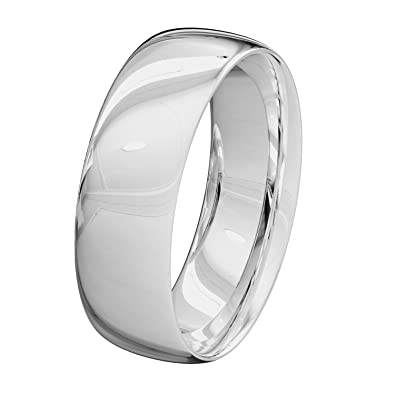 New Platinum Solid Medium Court Profile UK Hallmarked Wedding Rings Band