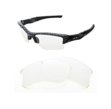 ac7a12fb5f NEW REPLACEMENT CLEAR LENS FOR OAKLEY FLAK JACKET XLJ SUNGLASSES   Amazon.co.uk  Clothing