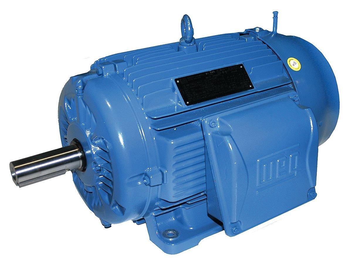 WEG 00218ET3W100L-W22 TEFC Multi-Mounting Cast Iron Frame IE3 IEC Tru-Metric Electric Motor, 3 HP, 3-Phase, 1740 RPM, 460 V, 50/60 Hz, Frame 100L