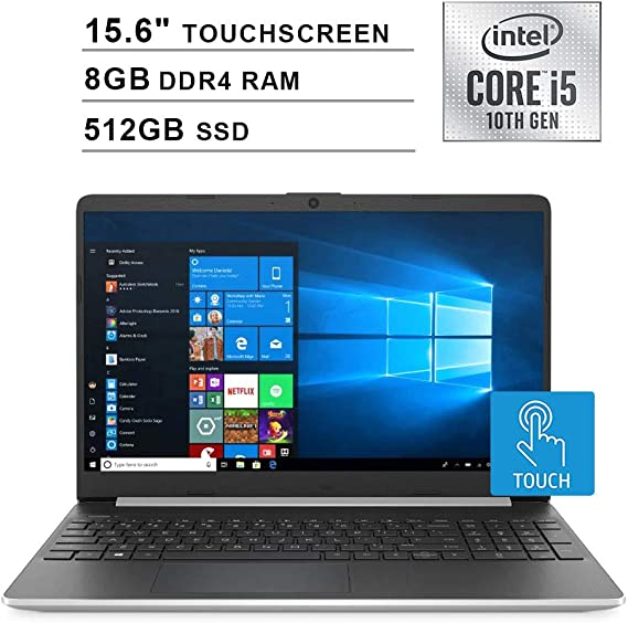 2020 NexiGo Upgraded Pavilion 15.6 Inch Touchscreen Laptop| 10th Gen Intel Core i5-1035G1 (Beats i7-7500U)| 8GB DDR4 RAM| 512GB SSD| Intel UHD Graphics| HDMI| WiFi| Bluetooth| Webcam| Windows 10