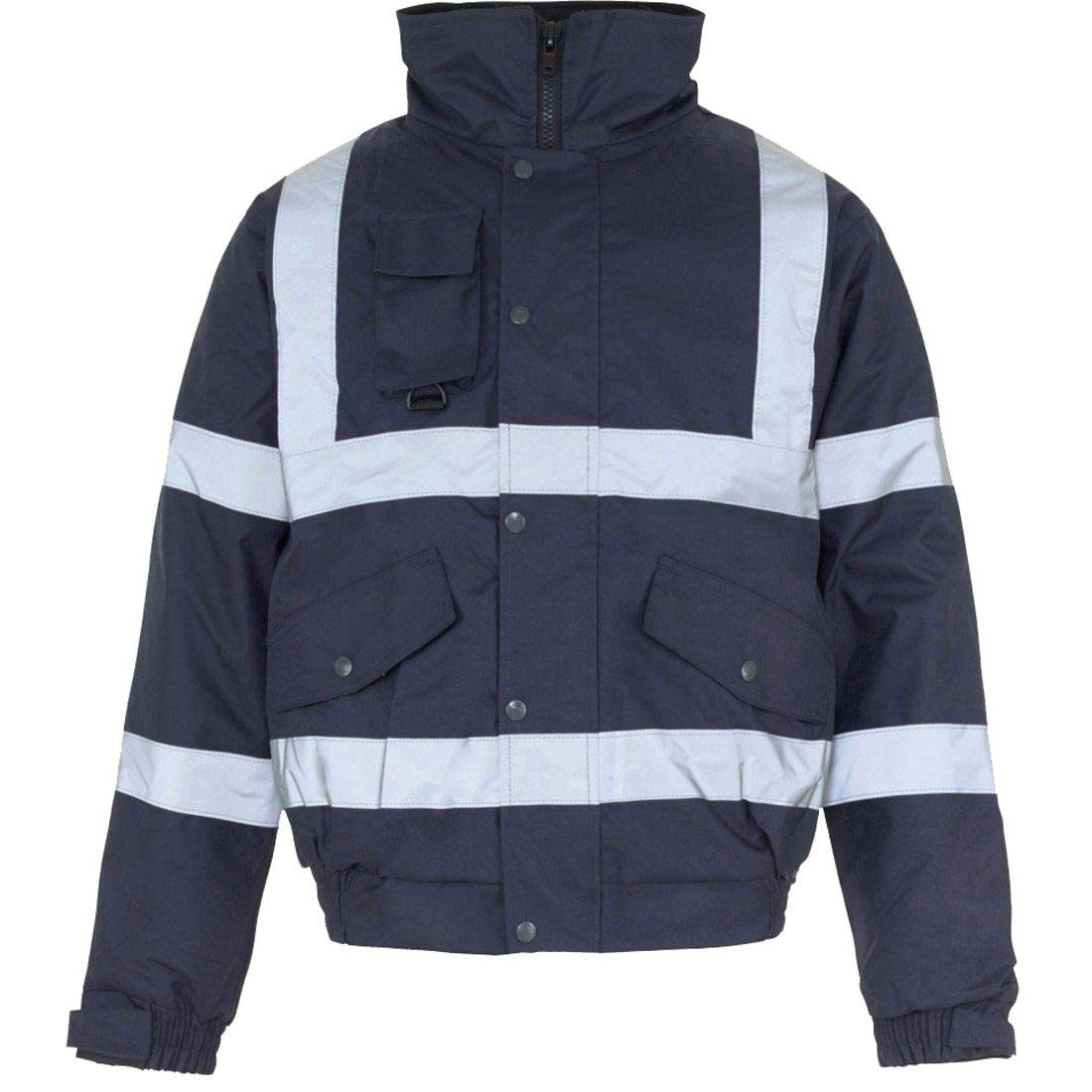 Style Wise Fashion Boys Hi Visibility Long Sleeve Jacket Mens Workwear Impermeabile Bomber Jacket