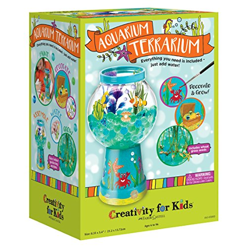 Creativity for Kids Aquarium Terrarium Craft Kit - Craft And Grow With Water Beads (Kids Fish Aquarium)