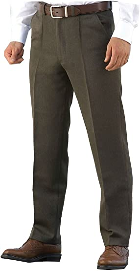 Mens Stretch Trousers Formal Casual Office Pants W32 to W 56 L 27 29 L31