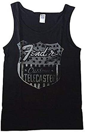 Fender - Telecaster ESCUDO - Camiseta Tirantes Oficial Mujer (Camiseta) - Negro, Small: Amazon.es: Ropa y accesorios