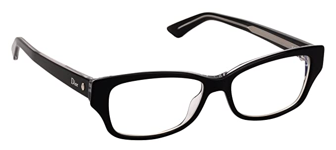 b884c3283b7 Image Unavailable. Image not available for. Color  Christian Dior Women s Eyewear  Frames Montaigne10 52mm Black Crystal G99