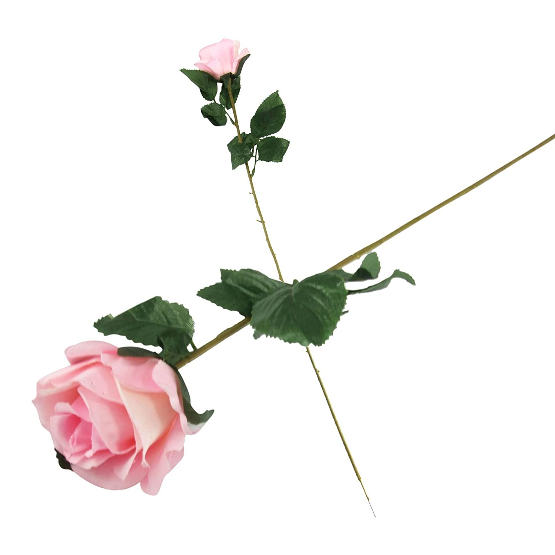 Single eco rose stem silk artificial silk flowers funeralbaby single eco rose stem silk artificial silk flowers funeralbaby pink amazon garden outdoors izmirmasajfo