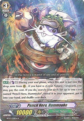 Cardfight!! Vanguard TCG - Pencil Hero, Hammsuke (BT07/021EN) - Rampage of the Beast King by Cardfight!! Vanguard TCG: Amazon.es: Juguetes y juegos