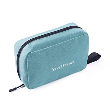 Amazon.com   Toiletry Bag Cosmetic Pouch Travel Kit Compact Hanging Toiletry  Bag Waterproof for Shaving Kit Cosmetic Kit (Green)   Beauty e60bb74cae871