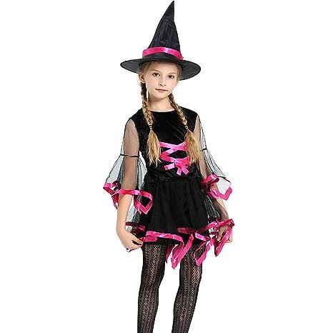 DDDD store Disfraz Bruja de Halloween para Niñas Cosplay ...