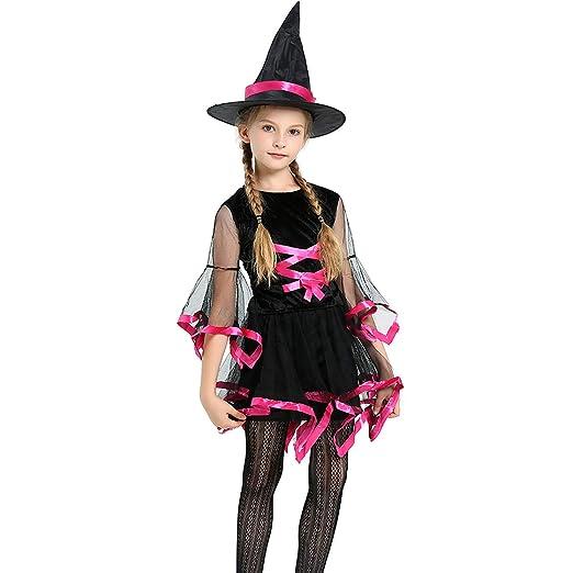 Sici Disfraz Bruja de Halloween para Niñas Cosplay Niña Halloween ...