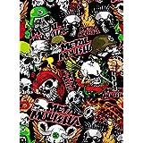 [BOMB STICKER] SKULL DEVIL METAL PUNK ROCK GROUP BAND MUSIC Color JDM Graffiti Cover Decal Sheet 7.5x9.5 19x24cm by GOBBER Sticker