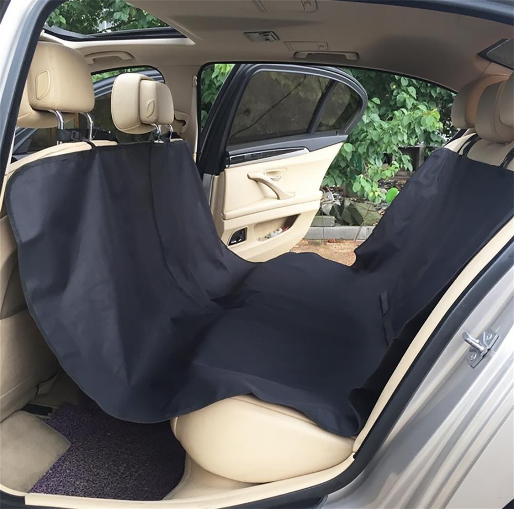 LAMEI Pets Dog Seat Cover for Cars, Trucks, Suvs, Hammock Style, Seat Anchors, Side Flaps, Waterproof & Nonslip Backing, Universal Design