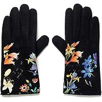Desigual Damskie rękawiczki FLOWERISH Cold Weather Gloves, czarne, U