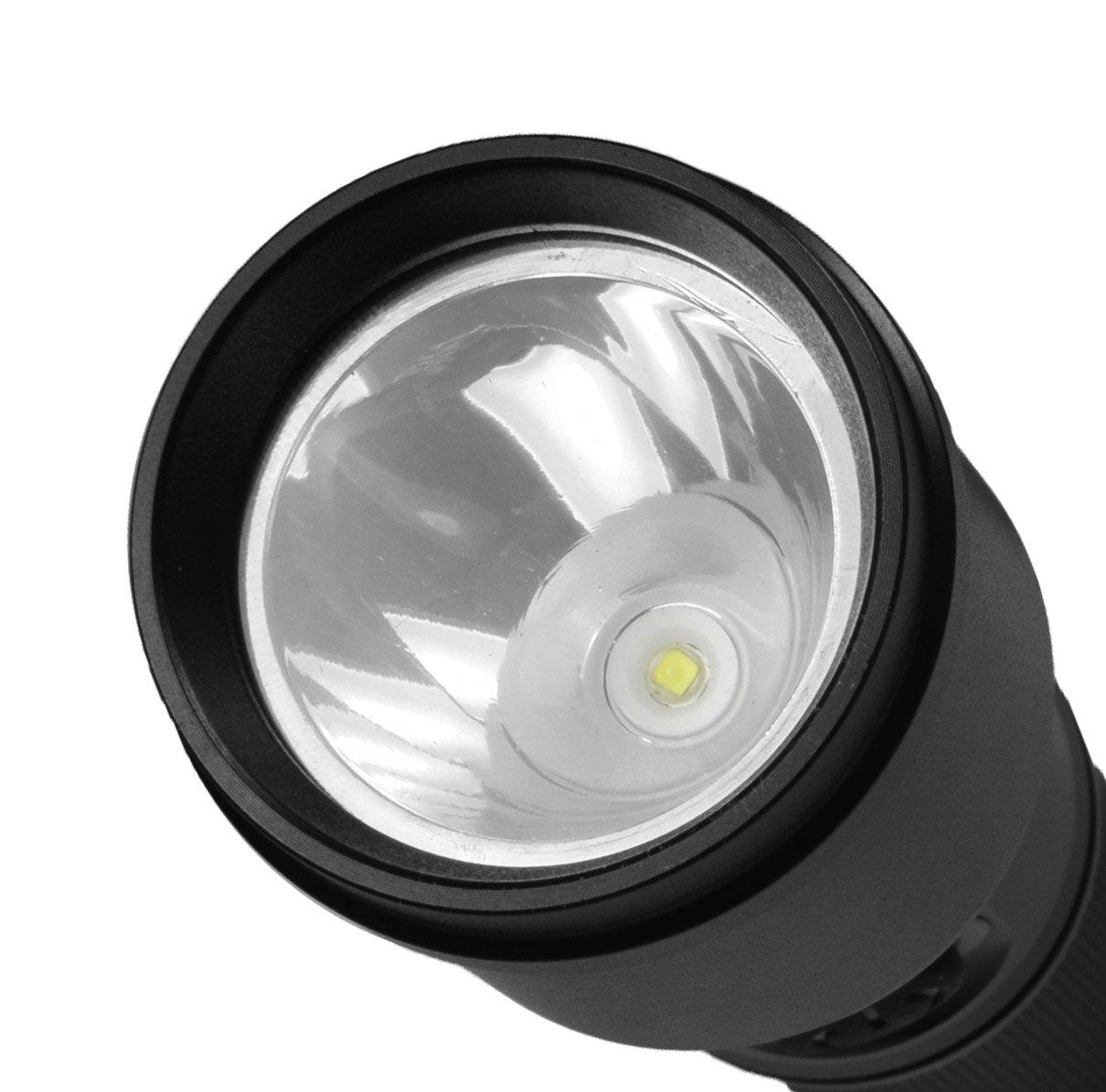 Police Security DuoLite 3AAA - Ultra Bright- Cree LED - Dual Utility Work Flashlight (Spotlight Beam and Area Light) - 300 Lumens - Everyday Use - Dog Walking, Hiking - Lights Your Path by Police Security Flashlights (Image #4)