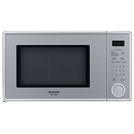 Amazon.com: Sharp 1,3 CU FT Horno de microondas, perla plata ...