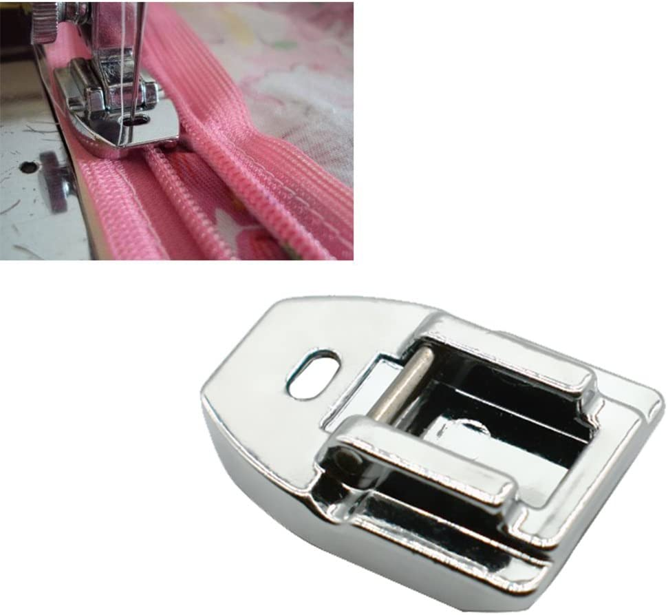 Elna by LNKA Juki New Home Babylock Kenmore Brother White Simplicity 3pcs Style Concealed Invisible Zipper Sewing Machine Presser Foot for All Low Shank Snap-On Singer Euro-Pro Janome