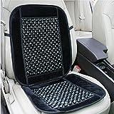 Zone Tech Black Wood Bead Seat Cover Massage Cool Premium Comfort Cushion - Reduces Fatigue