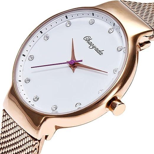 SJXIN Reloj Elegante Las Nuevas señoras 2018 Miran el Reloj Colorido de Las Mujeres del Diamante