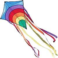 CIM Vlieger voor kinderen - Rainbow Eddy Blue - Dimense: 65cm x 72cm - Eenlijner - inclusief Vliegersnoer - vliegerkoord…
