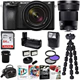 Sony Alpha a6500 Mirrorless Camera with 18-135mm f/3.5-5.6 and 30mm f/1.4 Lens