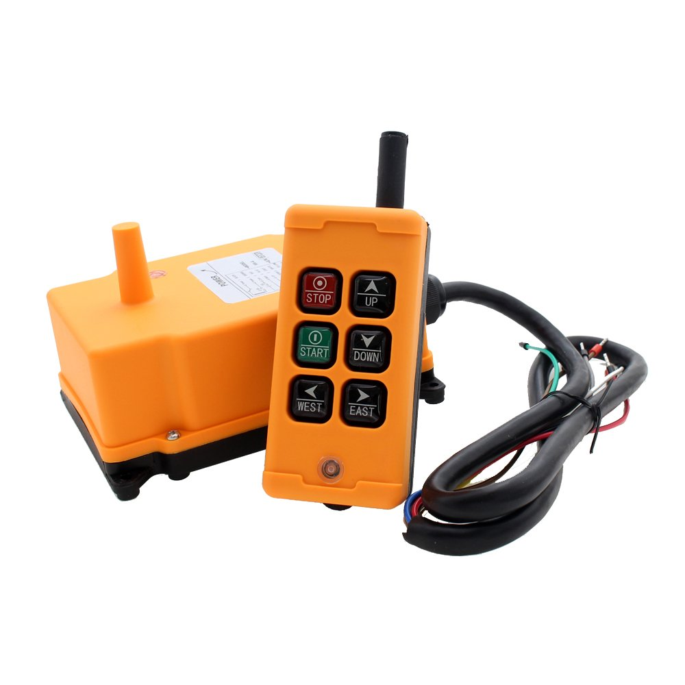 creatorele 6 Key Crane Industrial Remote Control Wireless Transmitter Push Button Switch (AC/DC 12-24V)