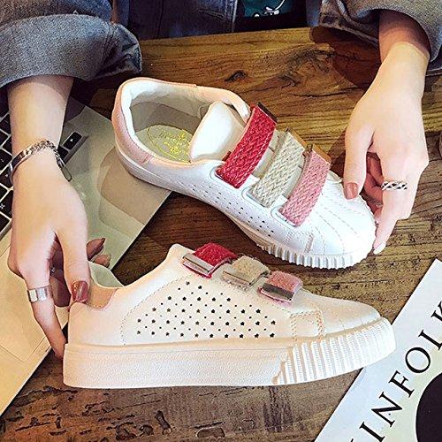 NGRDX&G Zapatos De Mujer Zapatos De Mujer Blanca La Sra. Mujer Zapatos Deportivos Zapatos De Mujer Transpirable Antideslizante Hollow White Pink