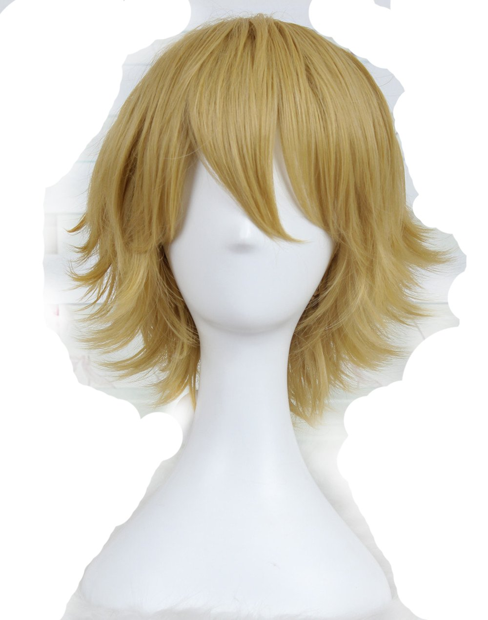Ecvtop Wigs For Mens Death Note Male Short Hair Wig Costume Cosplay Wigs Blonde Wigs
