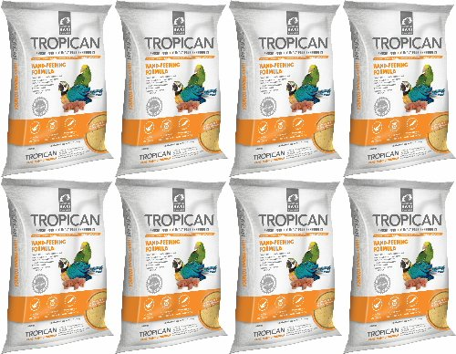 Tropican Hand-Feeding Formula Parrot Food 35.2lb (8 x 4.4lb) by Hari